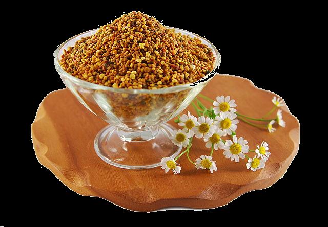 Цветочная пыльца в сосуде