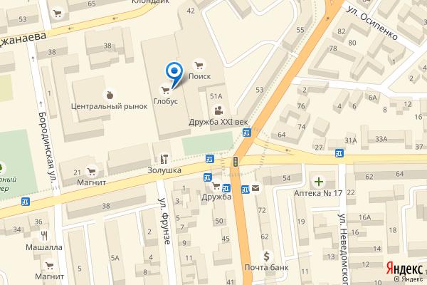 Владикавказ, улица Фрунзе, 1, ТЦ Глобус