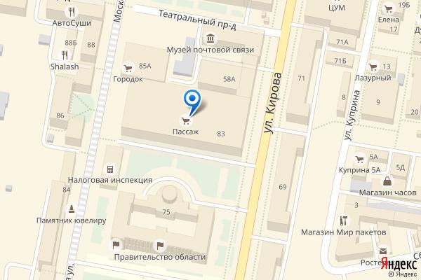 Пенза, Московская улица, 83, ТЦ Пассаж