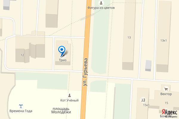 Раменское, улица Гурьева, 12, ТЦ Трио