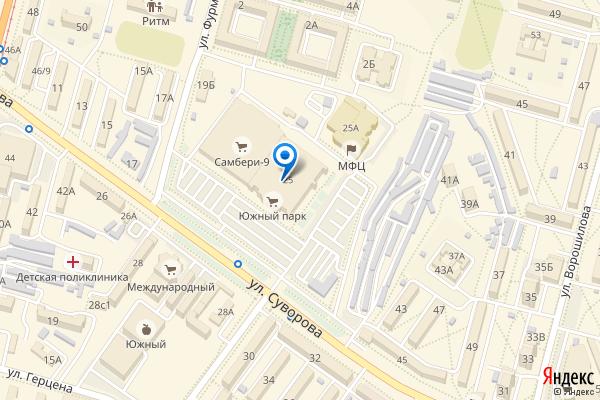 Хабаровск, улица Суворова, 25, ТЦ Южный Парк